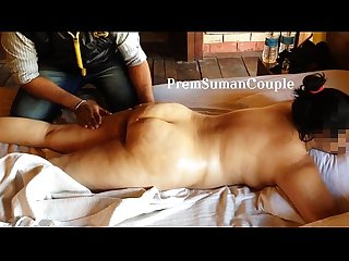 Desi wife Suman getting nude massage hubby filming [Part 1]