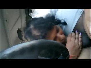 indian gf sex blowjob in car